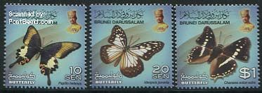 Bjutterfly stamps of Brunei