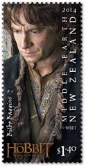 Bilbo Baggins Stamp New Zealand