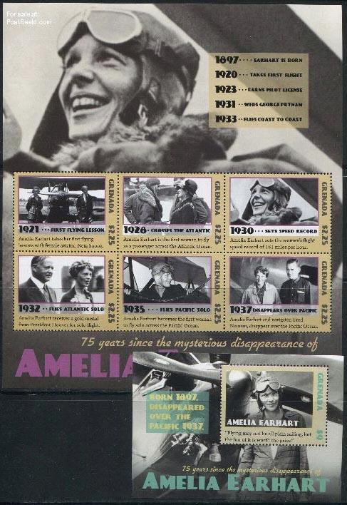 Stamps Amelia Earhart