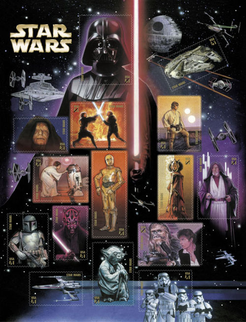 stamps Starwars-USA-2007
