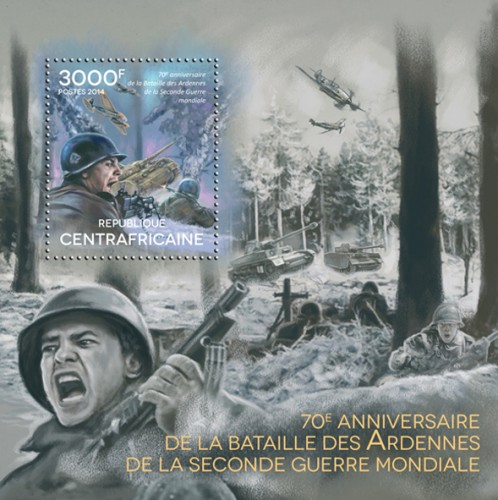 Stampblock commemorating the 70th anniversary of The battle of the Bulge