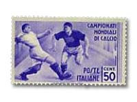 Soccer or Football on stamps