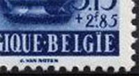 Belgium Stamp with spelling error in country name