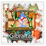 Christmas Stamps Gibraltar designed by St.Bernadette's Service Users