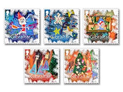 Christmas Stamp Gibraltar 2014