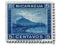 The Nicaraguan Mt Momotombo 5c blue
