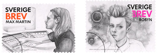 Max Martin on stamp