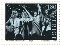 Abba Stamp Sweden