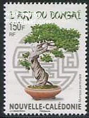 Bonsai tree on stamp New Caledonia
