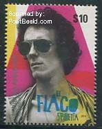 El-Flaco-Spinetta-postzegel-Argentinië