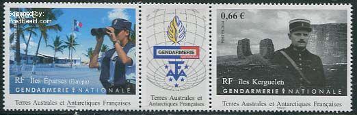 Postzegel-Frans-Antactica-Gendarmerie-np31416