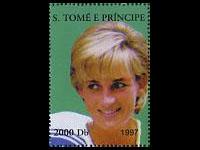 Hunchback Lady Di stamp