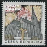 Plzen cultural capital of Europe 2015 stamp