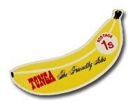 Tonga self-adhesive banana stamp