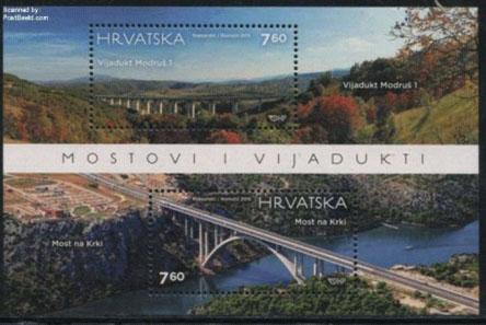 Postage stamp block Croatia