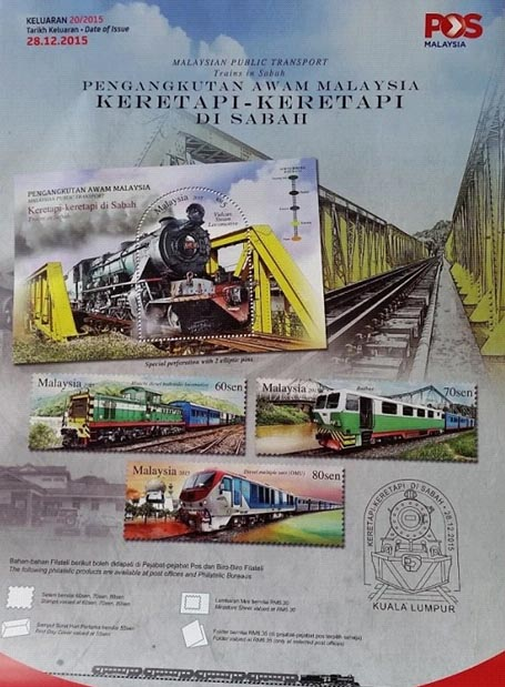 railway stamps Malaysia