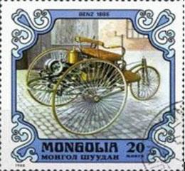1885 Benz on stamp Mongolia