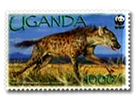 Hyena on Stamp