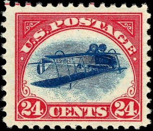 US_Airmail_inverted_Jenny_24c_1918_issue-300x258
