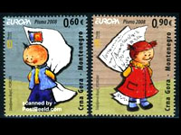 Stamps from Montenegro 2008.