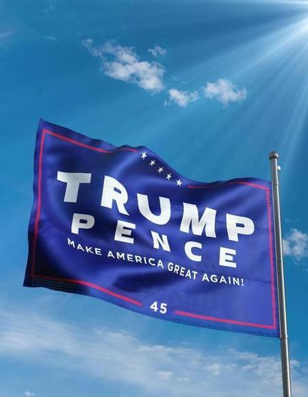 Trump Pence Flag