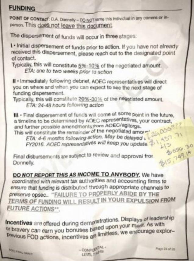 Soros Contract—'15 Baltimore Riots