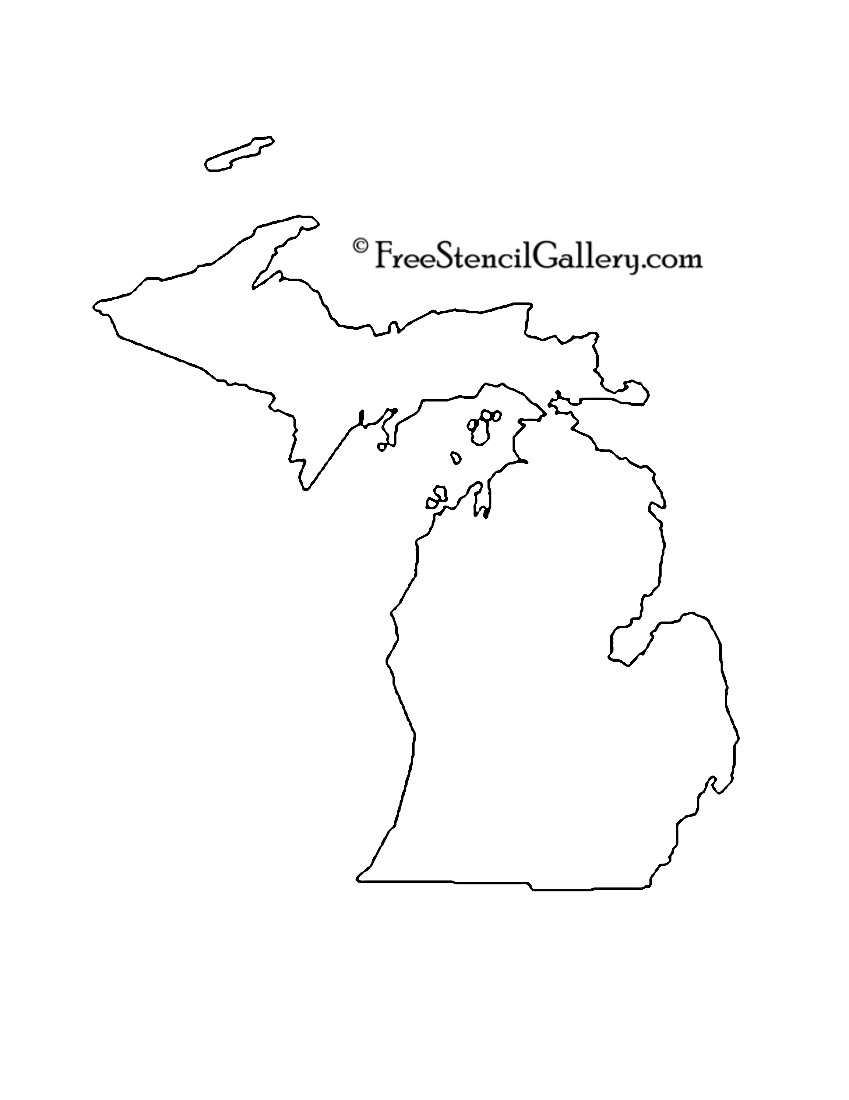 Michigan State Stencil activity on arrow diagram example
