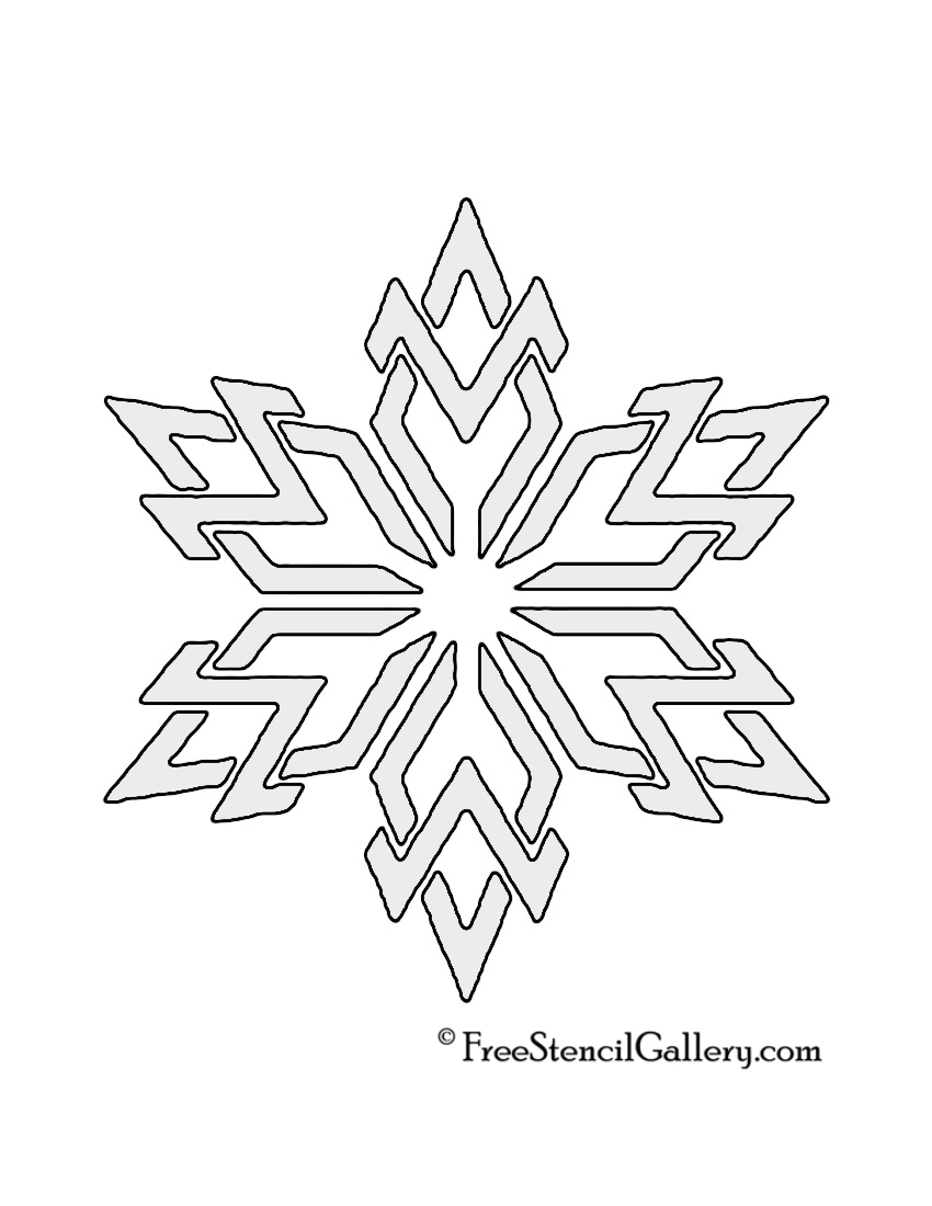 Snowflake Template And Cake Ideas and Designs
