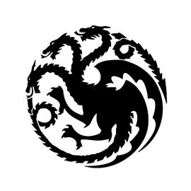 Game of Thrones  House Targaryen Sigil Stencil  Free Stencil Gallery