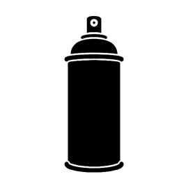 Spray Paint Can Stencil Free Stencil Gallery