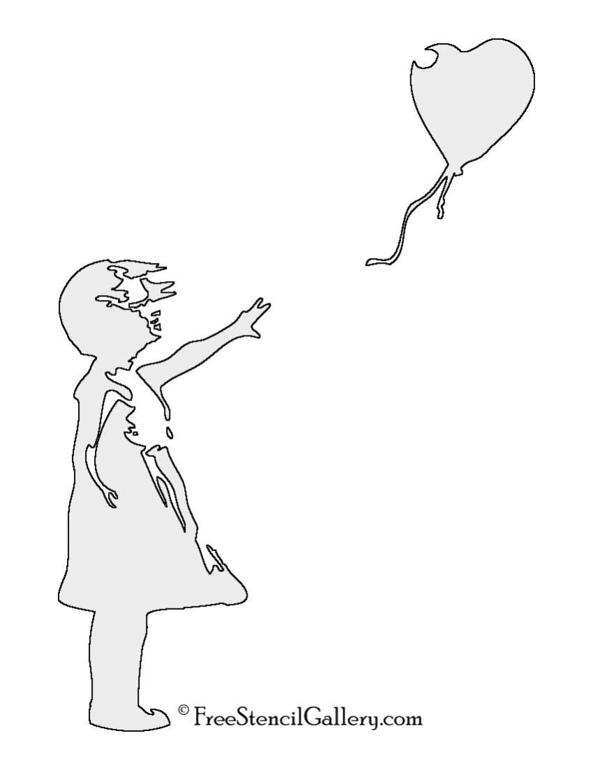 Banksy-Balloon Girl Carving Pattern