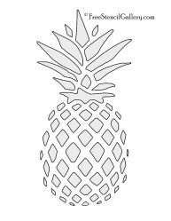 pineapple stencil stencils printable clipart painting template templates patterns outline cut craft diy freestencilgallery projects leaf printables silhouette stencles coloring