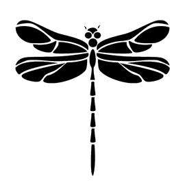 dragonfly stencil free