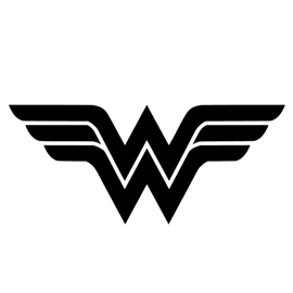 Wonder Woman Symbol Stencil  Free Stencil Gallery