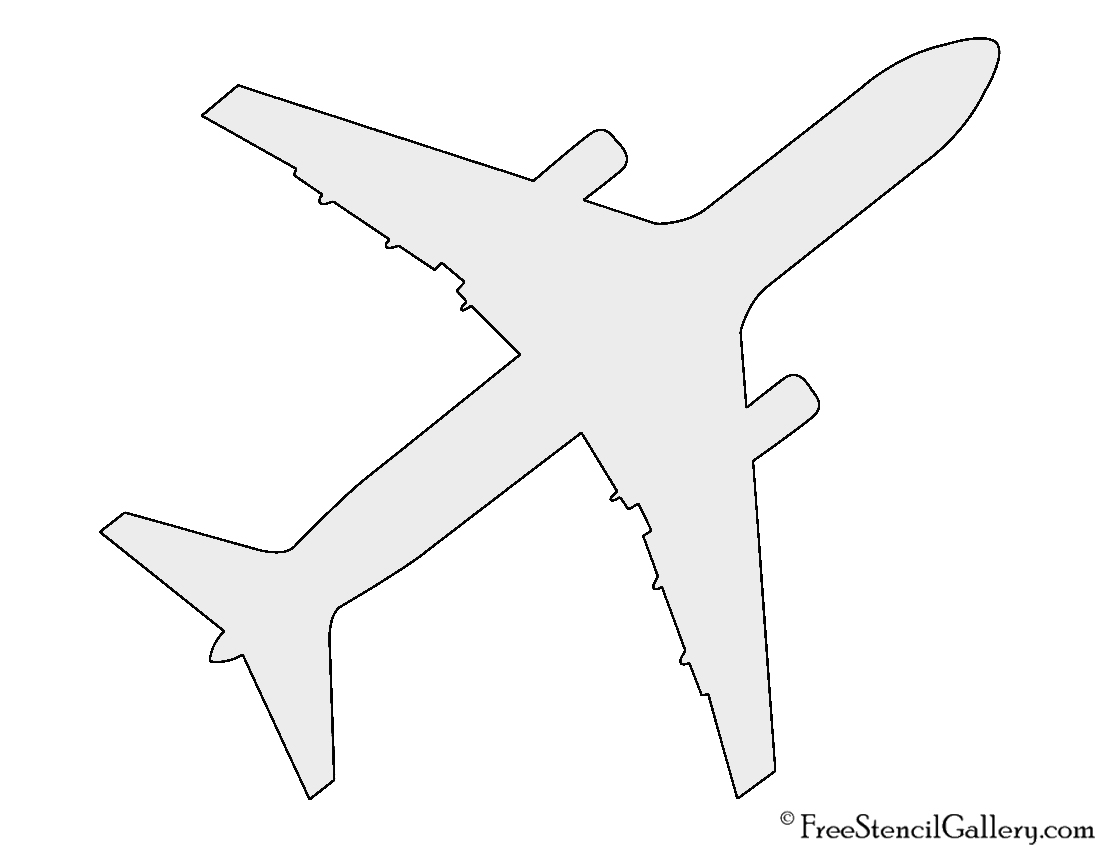 Paper Airplane Cut Out Template