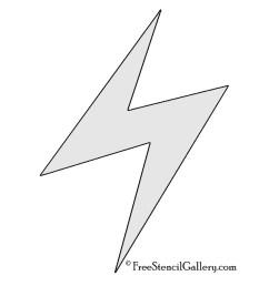 pokemon electric type symbol stencil [ 850 x 1100 Pixel ]