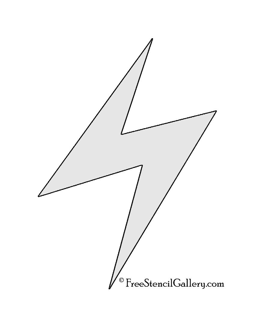 hight resolution of pokemon electric type symbol stencil