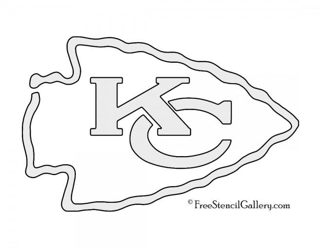 nfl kansas city chiefs stencil  free stencil gallery