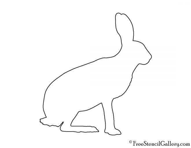 Hare Silhouette Stencil Free Stencil Gallery