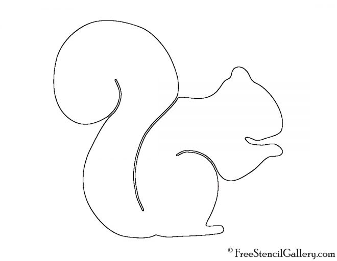 Outline Squirrel Template