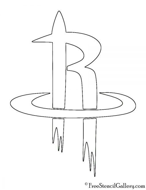 NBA Houston Rockets Logo Stencil Free Stencil Gallery