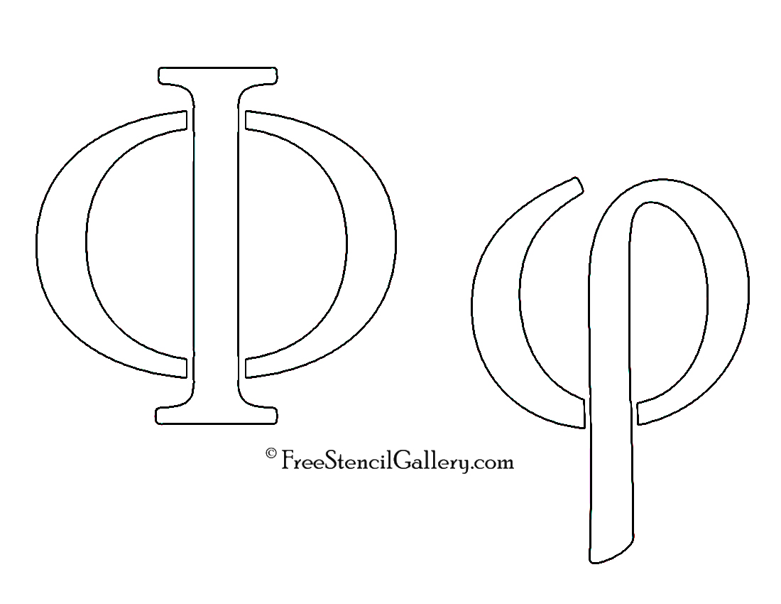 Printable Greek Letter Stencils for Shirts That are Old