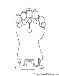 Guante De Thanos Dibujo Para Colorear