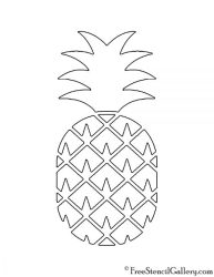 pineapple stencil freestencilgallery