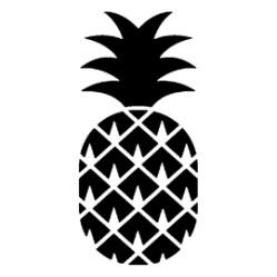 Printable Pineapple Stencil 1