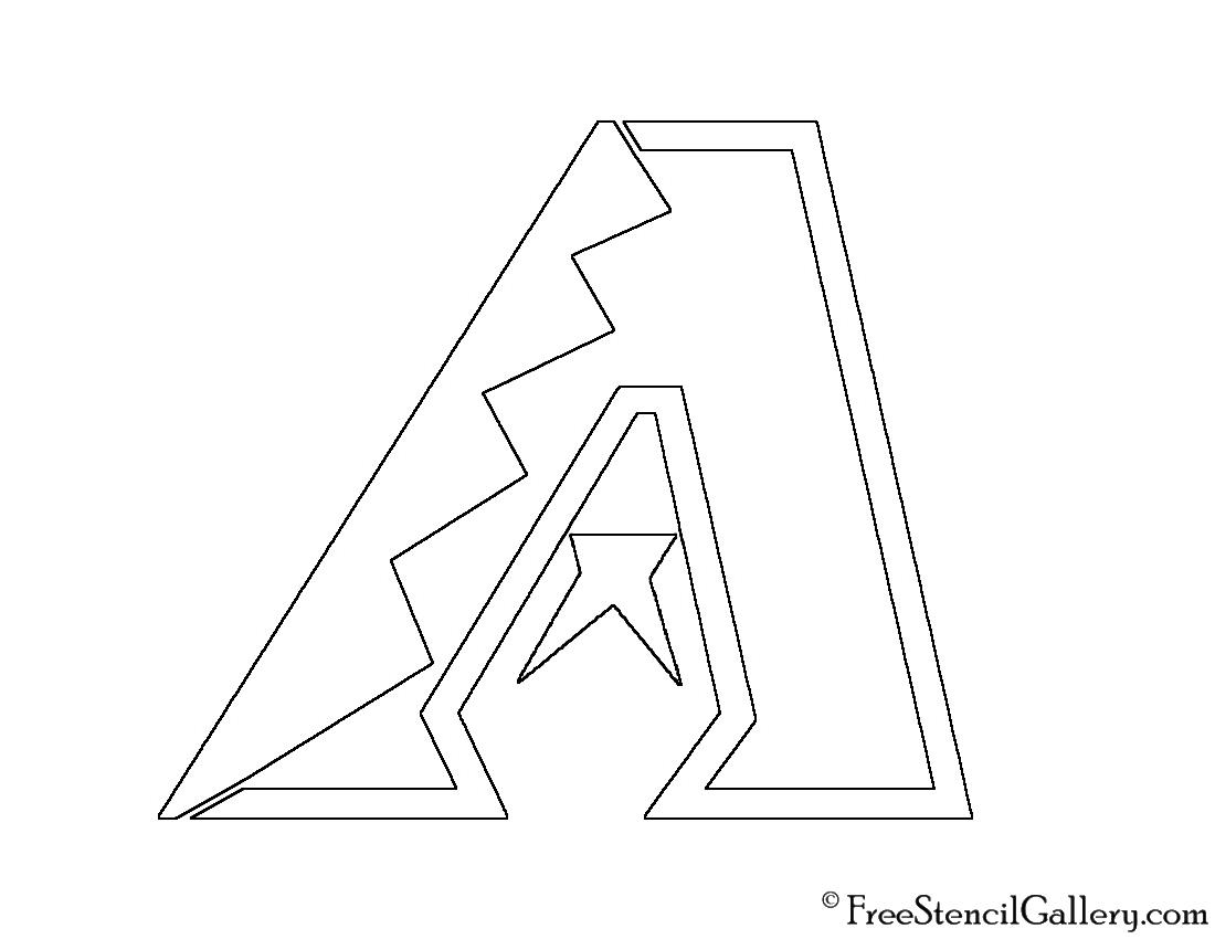Arizona Diamondbacks Logo Coloring Page Coloring Pages