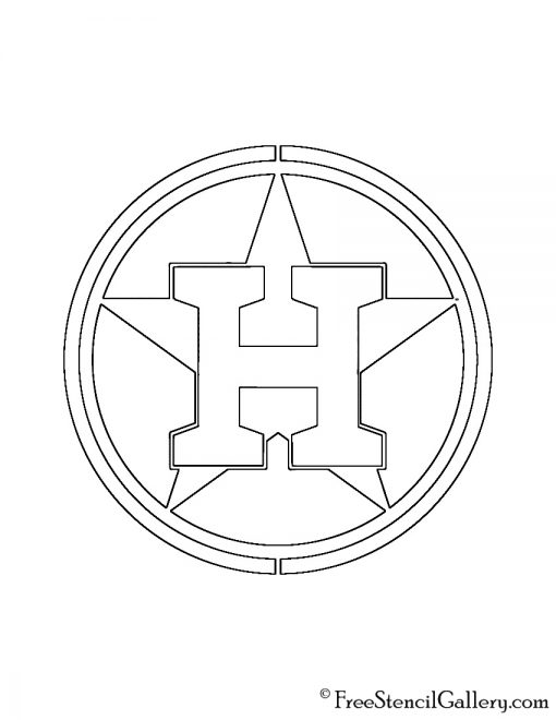 MLB Houston Astros Logo Stencil Free Stencil Gallery
