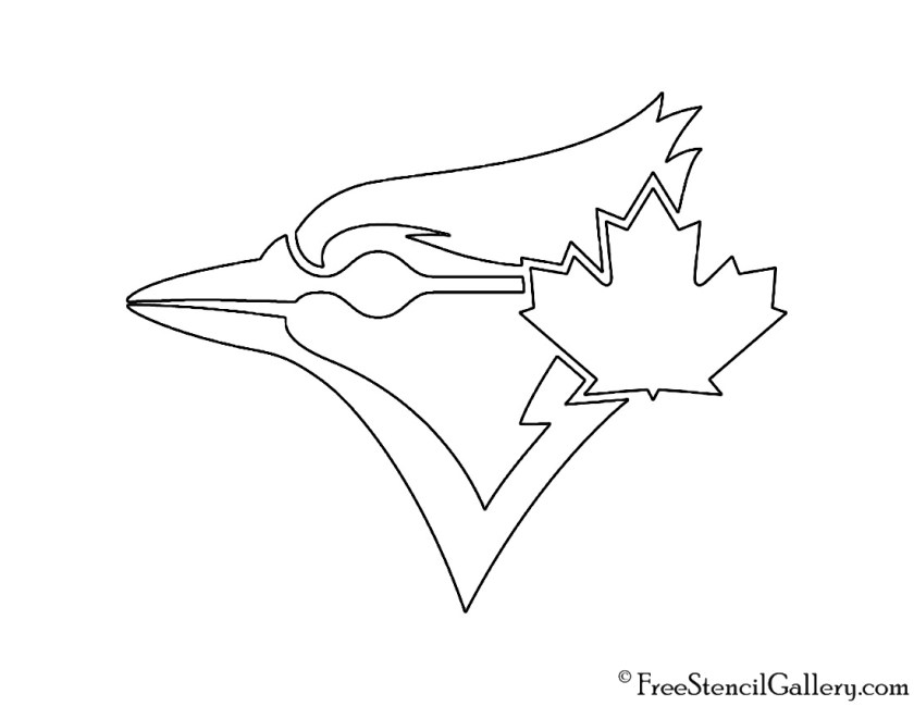 blue jays logo coloring coloring pages