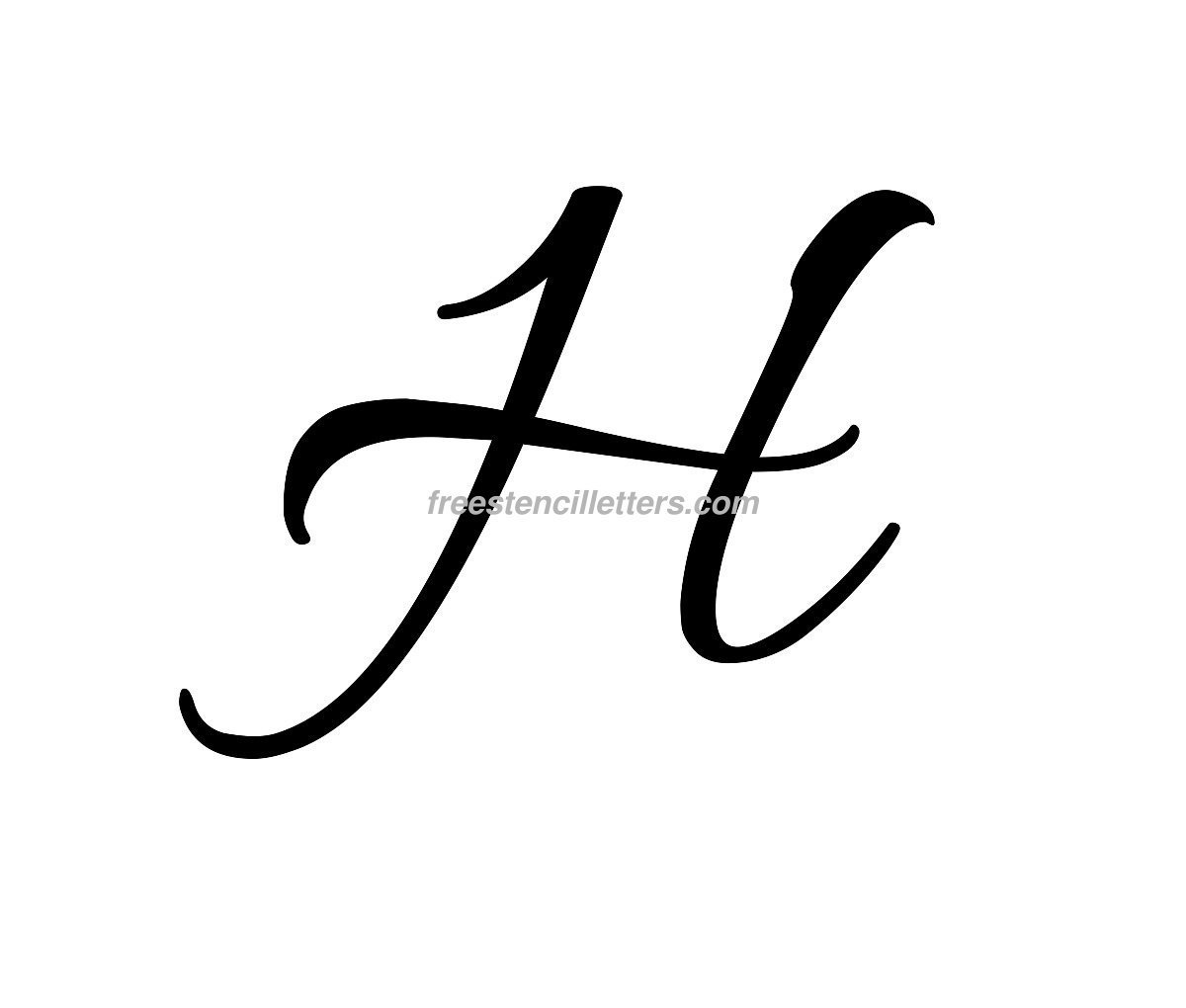 Free Stencil Letters To Print And Cut Out Cursive