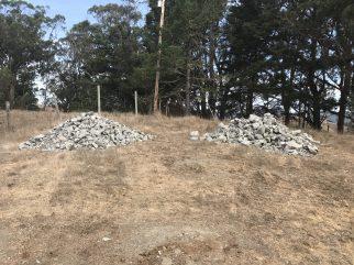 Rock for erosion work